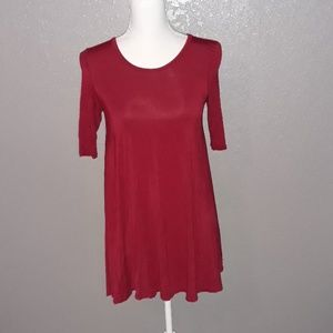Free People tunic top.  Red.  Size XS